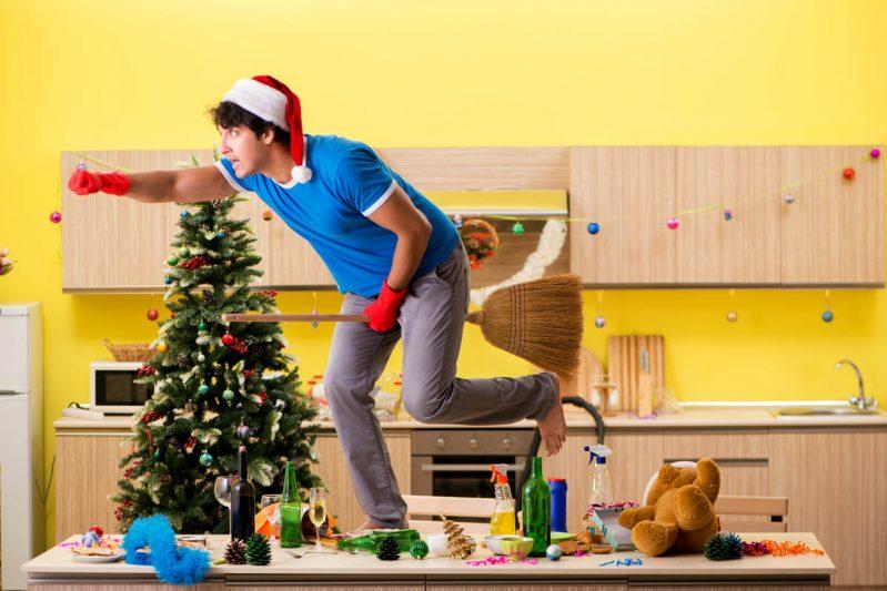 Limpieza profunda para eventos navideños