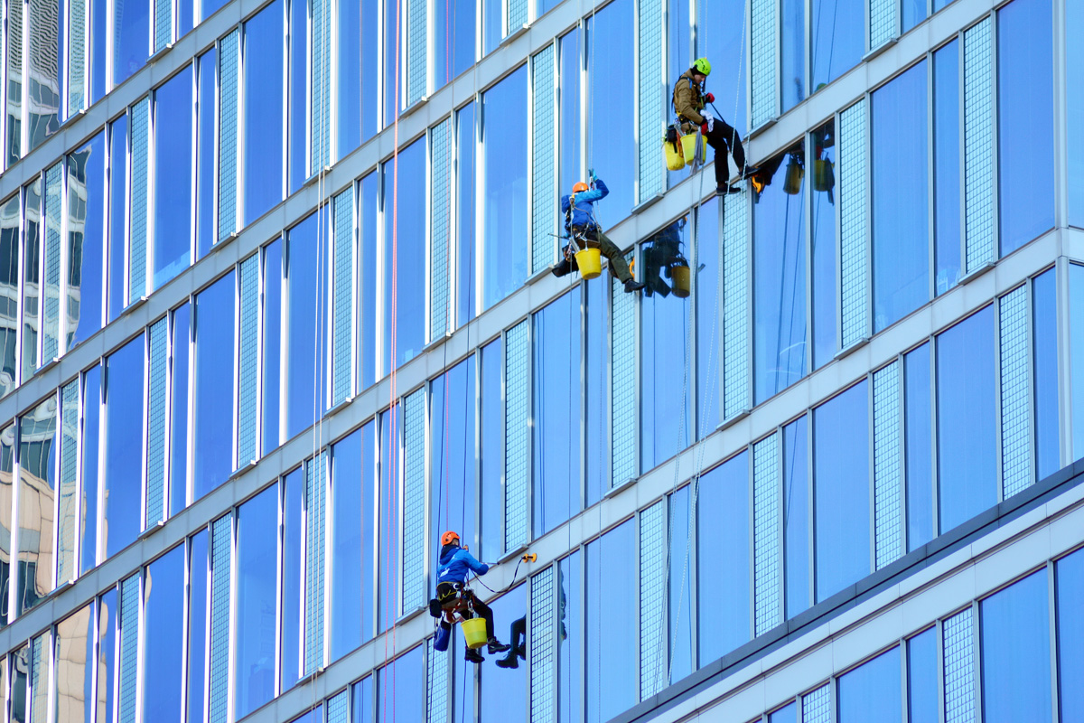High-rise Building Window Cleaning
