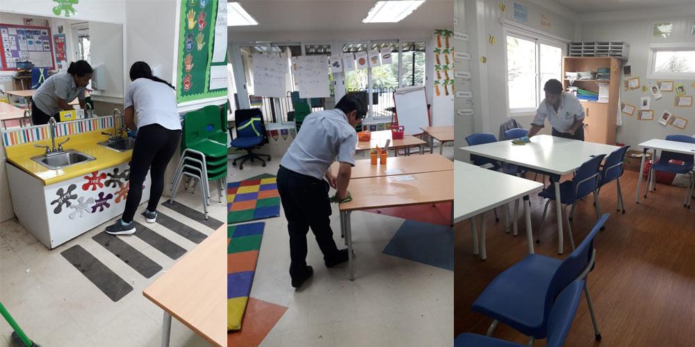 Limpieza de preescolar en Panamá